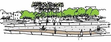 Croqui do Belvedere<br />Imagem dos autores do projeto