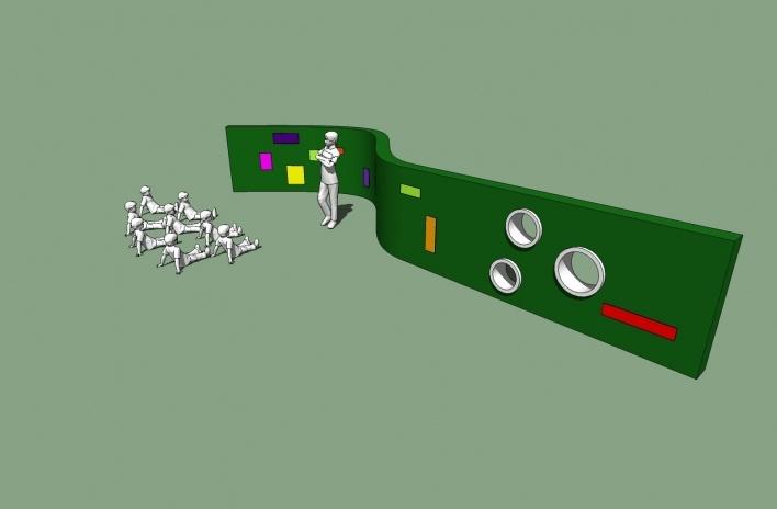 Modelo 3D - Muro-Lousa<br />Imagem dos autores do projeto