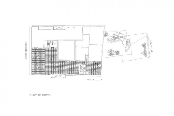 Planta coberta<br />Deseño Estudio Miralles-Tagliabue