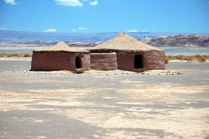 Aldeamento de Tulor, réplica de moradia, Atacama, Chile <br />Foto José Tabacow
