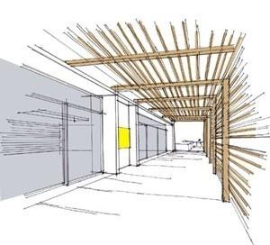 Salão de Eventos – Vista interna<br />Imagem dos autores do projeto