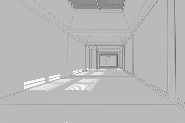 Sala de exposições no 4º pavimento<br />Elaboração Edson Mahfuz