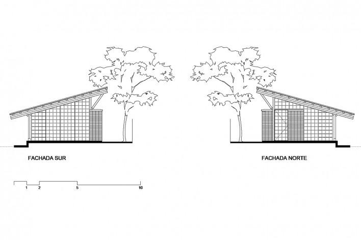 Taller de Confección Amairis, fachadas sur y norte, San Isidro, Colombia. Taller Ruta 4