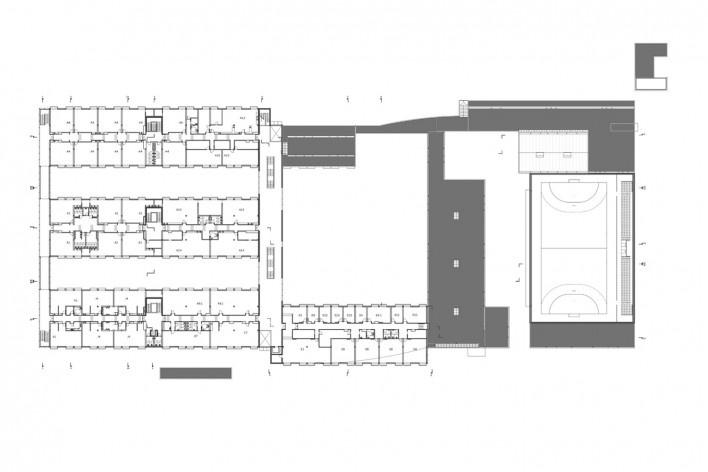 Escola Gaspar Frutuoso, planta primeiro pavimento, Ribeira Grande, Azores, Portugal, 2016. Arquiteto Carlos Almeida Marques<br />Imagem divulgação  [Acervo Arquiteto Carlos Almeida Marques]