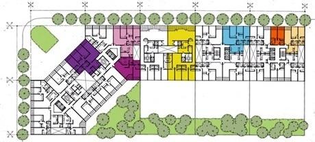 Exemplo de planta da quadra tipo<br />Imagem dos autores do projeto
