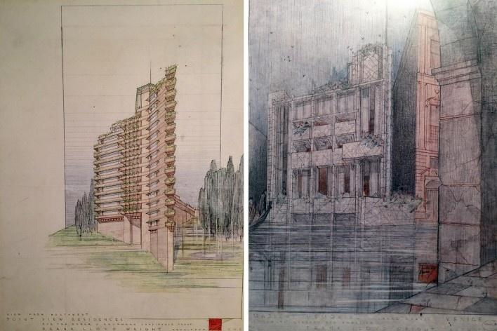 "Point View Residences e Memorial Masieri, Frank Lloyd Wright, mostra ""The Human Insect: Antenna Architectures 1887-2017""<br />Foto Ana Tagliari / Wilson Florio, 2018"