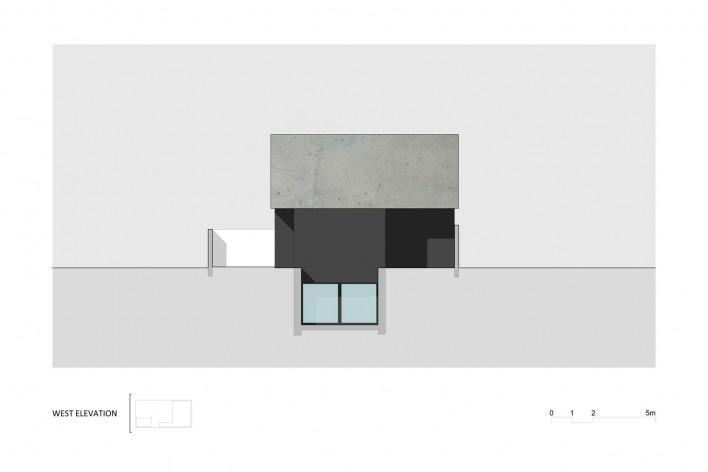 Elevação Oeste Casa no Juso. Projeto ARX Portugal + Stefano Riva, 2011<br />divulgação