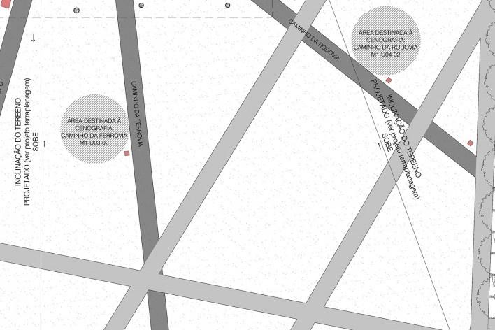 Museu do Trabalho e do Trabalhador, detalhe da implantação, São Bernardo do Campo. Escritório Brasil Arquitetura<br />Imagem divulgação  [Brasil Arquitetura]