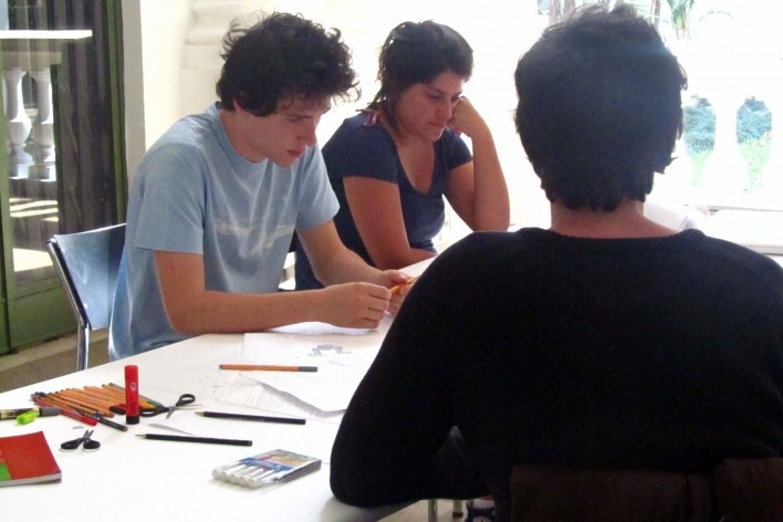 Oficina de desenho urbano MCB, equipe de trabalho, São Paulo, 2011<br />Foto divulgação