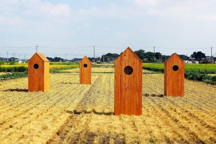 The cabins<br />Photo Yusuke Omuro  [Atelier Ichiku]