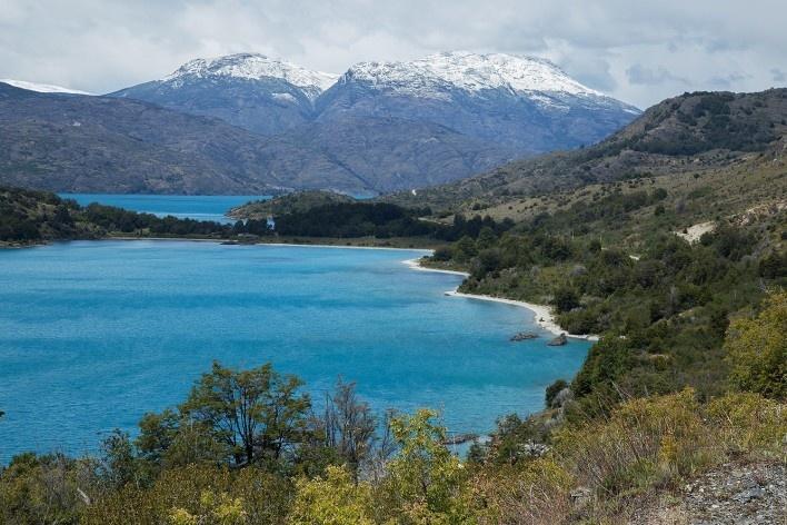 De Puerto Rio Tranquillo até bifurcação Cochrane – Chile Chico, Lago General Carrera<br />Foto Diana Souza