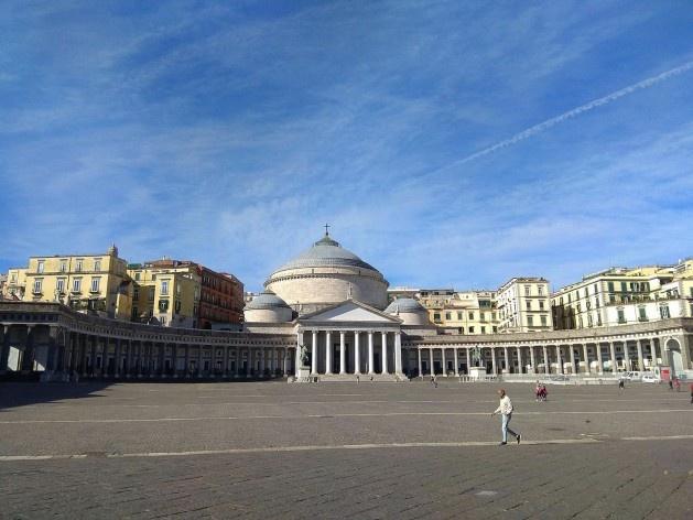 Piazza del Plebiscito, Nápoles, Itália<br />Foto Carina Mendes dos Santos Melo, 2018