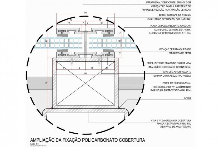Arena da Juventude, ampliação cobertura em policarbonato, Parque Olímpico de Deodoro, Rio de Janeiro, RJ, Escritório Vigliecca & Associados<br />Imagem divulgação