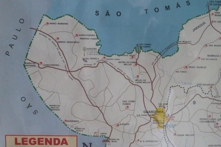Localização do distrito de Guardinha, Estado de Minas Gerais<br />Foto Michel Gorski