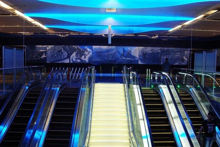 Interior de uma estação de metrô<br />Foto Luiz Gustavo Sobral Fernandes