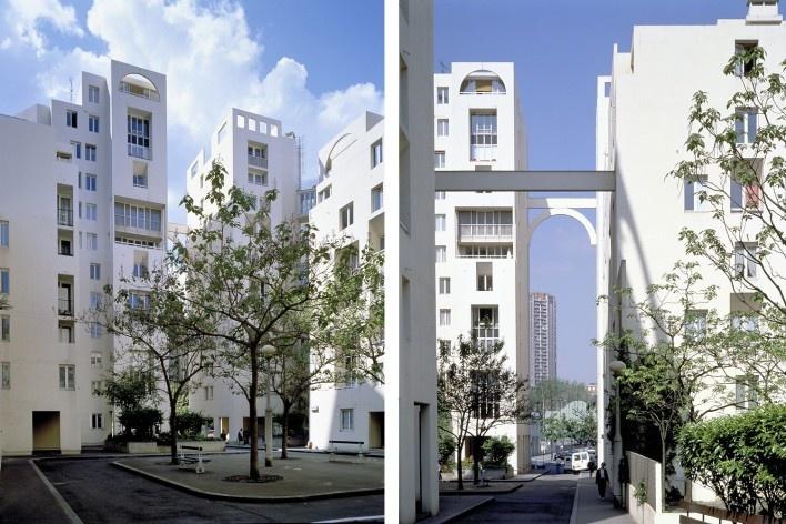 Les Hautes Formes, Paris. Arquiteto Christian de Portzamparc, 1975<br />Fotos Nicolas Borel  [PORTZAMPARC, Christian de. A terceira era da cidade]