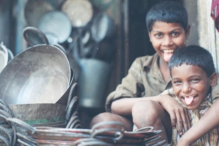 Muleques, Bangaloore, Índia<br />Foto Fabricio Fernandes