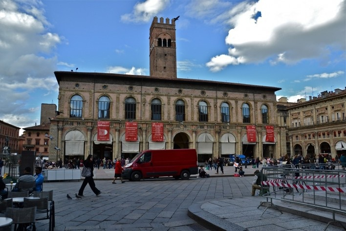 Piazza Maggiore, patrimônio edificado<br />Foto Fabio Jose Martins de Lima