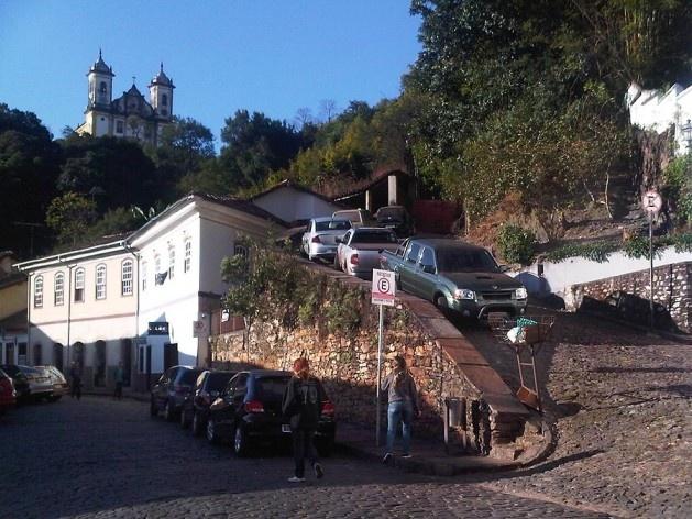 Ladeira de acesso à igreja São Francisco de Paula<br />Foto Abilio Guerra