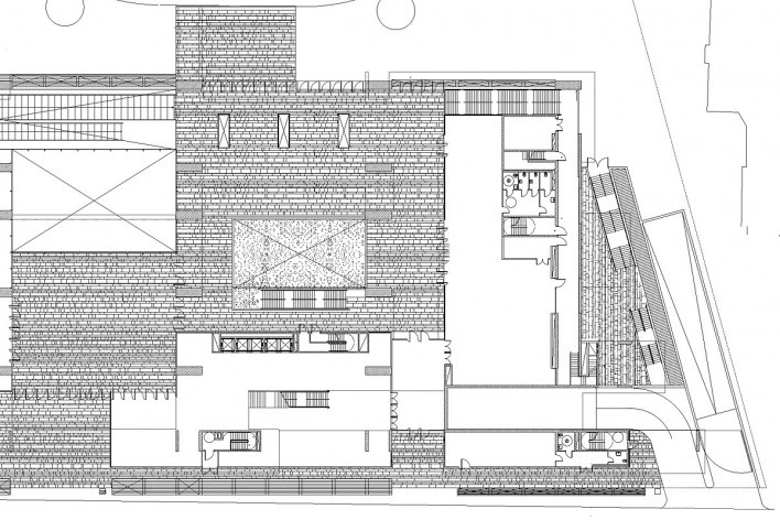 Nova Bocconi, planta térreo (detalhe). Grafton Architects [Grafton Architects]