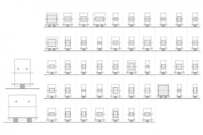 Cavaletes de vidro reconstruídos, modelos E e F. Metro Arquitetos Associados