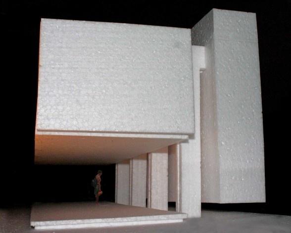 Casa en el aire. Maqueta. Sergio Fanego, Larissa Rojas, Miguel Duarte. Luque, Paraguay. 2008-2010.