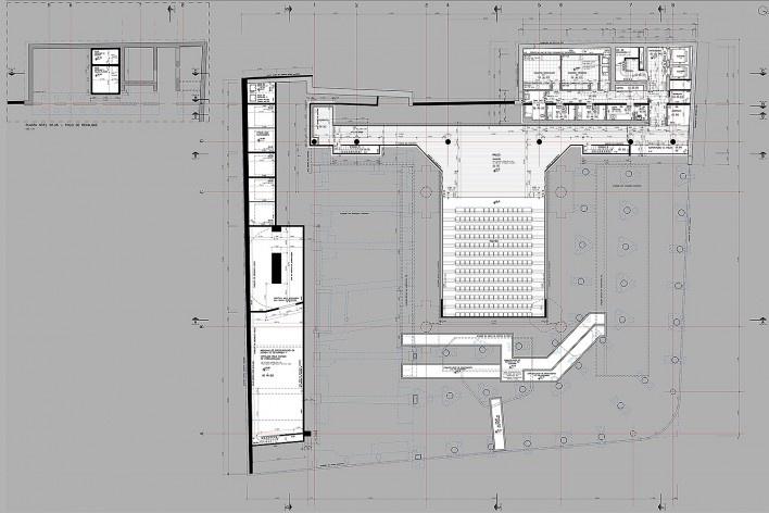 Sesc 24 de Maio, 2º subsolo, teatro, Paulo Mendes da Rocha + MMBB Arquitetos, São Paulo<br />Imagem divulgação