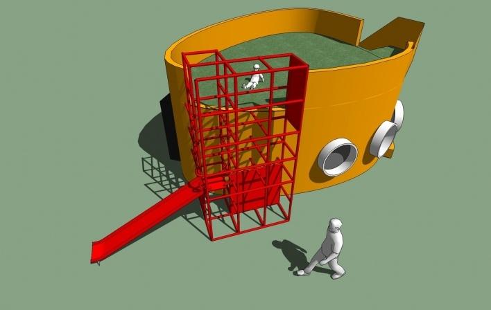 Modelo 3D - Midiateca 1<br />Imagem dos autores do projeto