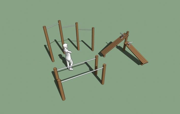Modelo 3D - Academia<br />Imagem dos autores do projeto