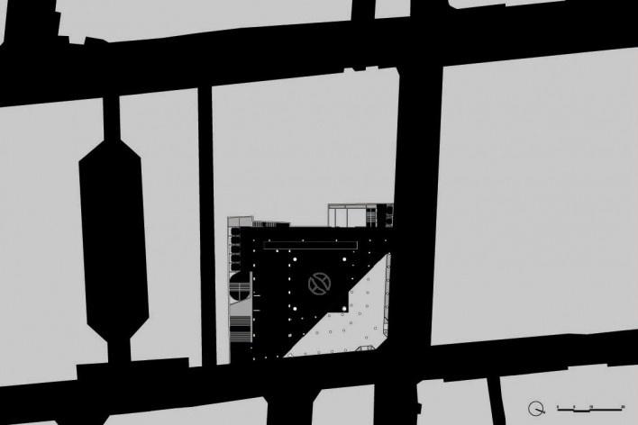 Sesc 24 de Maio, implantação, Paulo Mendes da Rocha + MMBB Arquitetos, São Paulo<br />Imagem divulgação
