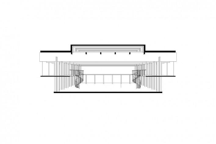 Saint Catherine's College, corte transversal da biblioteca, Oxford, Inglaterra, 1959-1964, arquiteto Arne Jacobsen<br />Modelo tridimensional de Edson Mahfuz e Ana Karina Christ