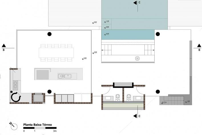 Kiosk EL165, plan, Gravataí RS Brasil, 2016. Architects Diego Brasil and Anderson Calvi / Br3 Arquitetos<br />Imagem divulgação / disclosure image  [Br3 Arquitetos]