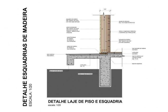 Detalhe esquadrias de madeira<br />Otra Arquitetura