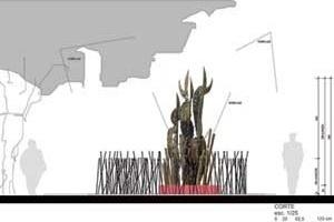Elevação da Escultura<br />Imagem dos autores do projeto