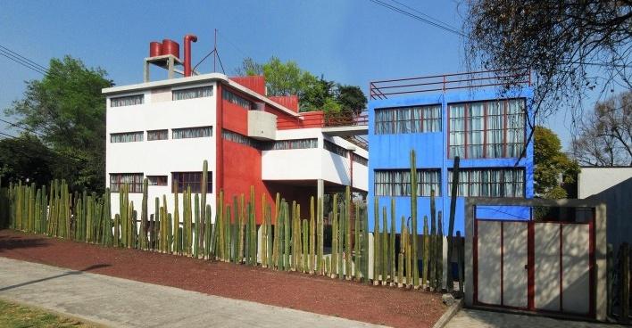 Casas-estúdio de Diego Rivera e Frida Kahlo, 1931. Arquiteto Juan O'Gorman<br />Foto Victor Hugo Mori
