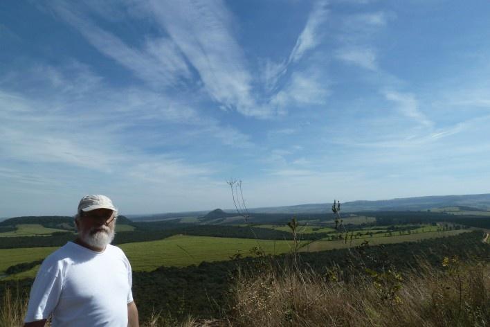 Michel Gorski no Morro da Mesa<br />Foto Áurea Pereira da Silva