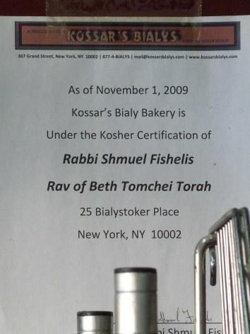Detalhe da supervisão rabínica da padaria<br />Foto Michel Gorski