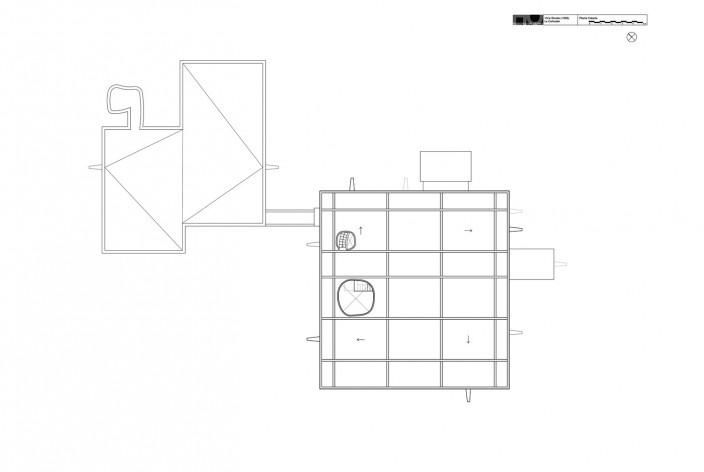 Casa Shodhan, planta cobertura, Ahmedabad, Gujarat, Índia, 1951-56. Arquiteto Le Corbusier<br />Reprodução/reproducción  [website historiaenobres.net]