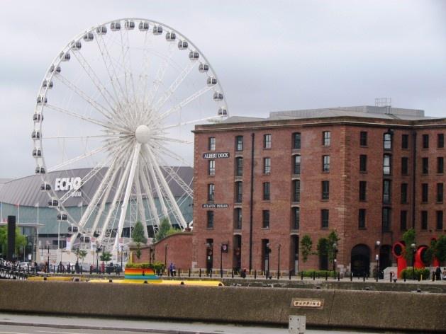 Trecho da Albert Dock, em Liverpool<br />foto Ana Paula Spolon