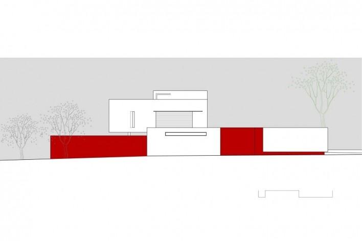 Arquiteto Fabiano Sobreira. Casa da Copaíba, Brasília, 2012. Elevação norte