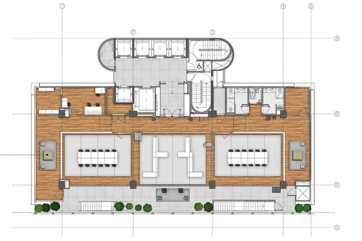 Sesc Avenida Paulista, planta 2º pavimento - estúdios, escritório Königsberger Vannucchi, 2018<br />Imagem divulgação  [Königsberger Vannucchi Arquitetos Associados]