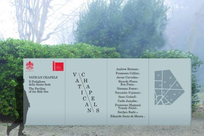 Vatican Chapel, projects location panel, Venice, 2018 [Escritório/Office Carla Juaçaba]