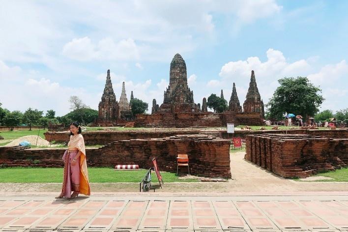 Templo de Wat Chai Watthanaram, Birmânia<br />Foto Victor Hugo Mori