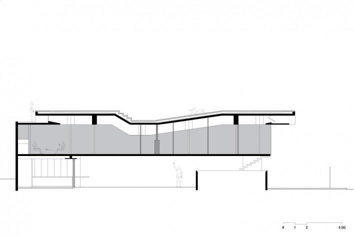 A weekend house in downtown São Paulo. Architect Angelo Bucci / SPBR<br />Desenho divulgação