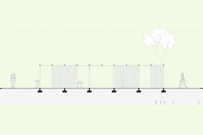 Readequação do Parque Municipal Raul Seixas, corte longidinal: labirinto lúdico, São Paulo SP Brasil, 2019. Secretaria do Verde e Meio Ambiente – Departamento de Implantação, Projetos e Obras/ Secretaria Municipal da Pessoa com Deficiência<br />Imagem divulgação  [SVMA/ SMPED]