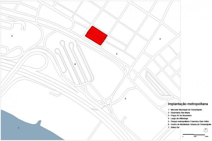 Cobertura do Mercado Público de Florianópolis, implantação metropolitana, 2016. Arquitetos Gustavo Correia Utrabo e Pedro Lass Duschenes<br />Imagem divulgação