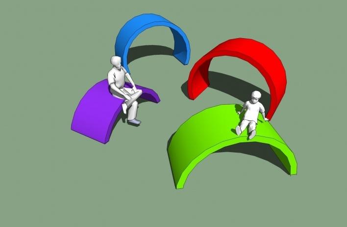 Modelo 3D - Manilhas<br />Imagem dos autores do projeto
