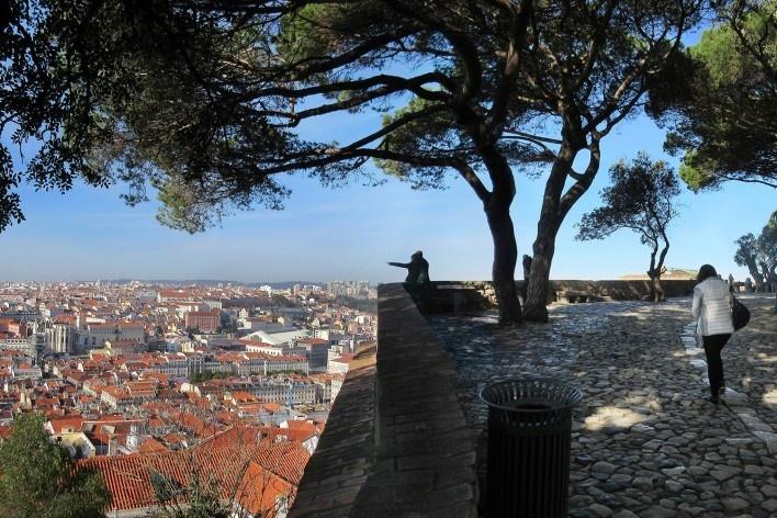 Alexandrina Mori no Castelo São Jorge, Lisboa, Portugal, 2017<br />Foto Victor Hugo Mori