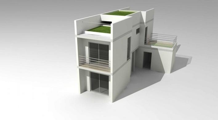 Maquete eletrônica da tipologia de 3 dormitórios. Concurso Habitação para Todos.CDHU.Sobrados - 2º Lugar.<br />Autores do projeto  [equipe premiada]