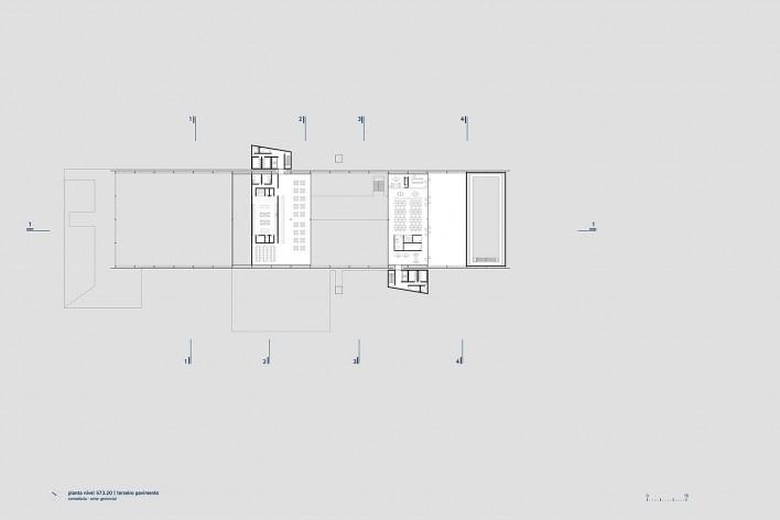 Sesc Limeira, planta terceiro pavimento, 2017. Arquitetos Alvaro Puntoni, João Sodré, José Paulo Gouvêa e Pedro Mendes da Rocha / Grupo SP + JPG.ARQ + Pedro Mendes da Rocha